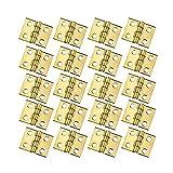 rzdeal 50Mini Kupfer Scharnier 8x 10mm Butt Scharniere mit Schrauben für Puppenhaus Miniatur Möbel Schrank Closet