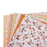 Momangel 7 Stück/Set 25 x 25 cm Blumenmuster Patchwork