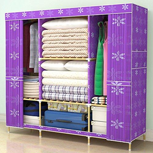 rsum du vrai bois tissus grand lit double armoire accs 6914123391010