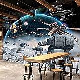 Weaeo Benutzerdefinierte 3D Fototapete Cartoon Star Wars Kinderzimmer Schlafzimmer Wandmalerei Wohnzimmer Wandbild Tapete Für Kinderzimmer-200X140Cm