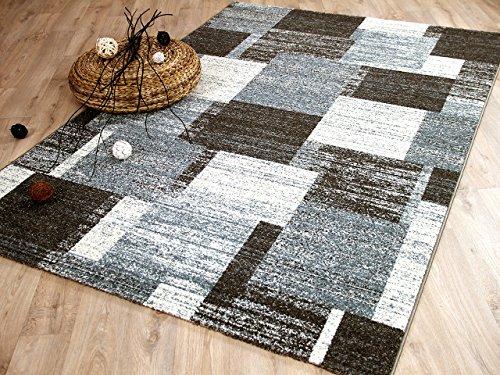 Designer Teppich Tango Braun Grau Modern in 5 Größen REDUZIERT