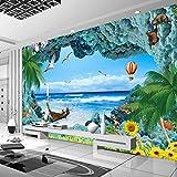 YShasaG Seidenwandbild Benutzerdefinierte 3D Fototapete Korallenriff Stereoskopischen Ozean Landschaft 3D Zimmer TV Hintergrund Mittelmeer Ansicht Wandbild Wandpapier, 208 cm * 146 cm