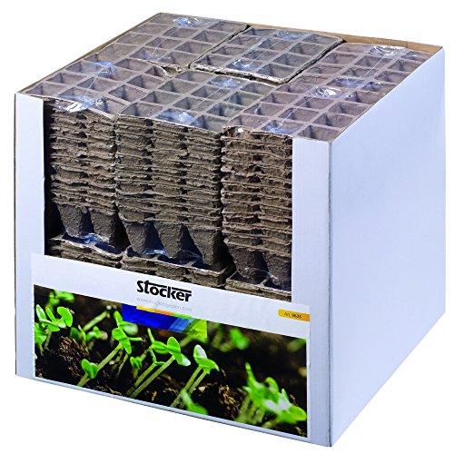 STOCKER Pot de carrés de fibre de tourbe pcs 3x12 - Potager propagator