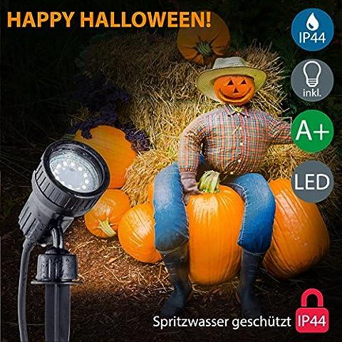 B.K.Licht LED Gartenstrahler inkl. 3W GU10, Erdspiess, Wegbeleuchtung, Rasenlicht, Gartenleuchte, Gartenbeleuchtung, Gartenlicht, Gartenspiess, Gartenlampe schwenkbar IP44
