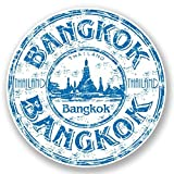 2 x 10cm/100mm Bangkok Thailand Thai Vinyl SELBSTKLEBENDE STICKER Aufkleber Laptop reisen Gepäckwagen iPad Zeichen Spaß #5917