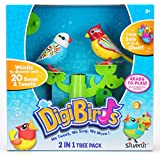 Silverlit Toy - 2 in 1 Tree Pack - Natalie and Ryan Digibirds - Interactive Digibird Pet Playset