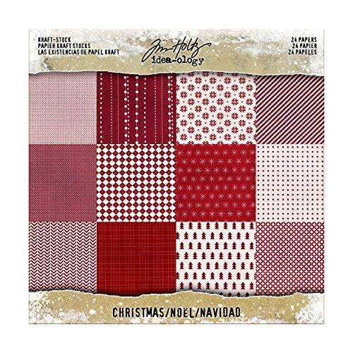 Advantus Kraft Lager Weihnachten Pad, Papier, mehrfarbig, 20,3x 20,3x - Weihnachten Scrapbook-papier