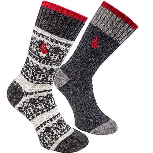 brubaker-chaussettes-de-randonnee-lot-de-4-paires-laine-epaisse-homme-taille-unique-41-46-gris-gris-