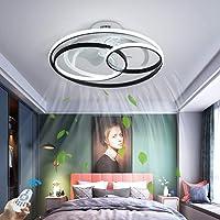 LED Dimmable Plafonnier Avec Ventilateur Moderne Créativité Double Anneau Ventilateur Au Plafond Avec Lampe Ultra-Mince…