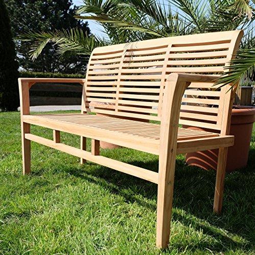 Edle TEAK XXL Gartengarnitur Gartenset Sitzgruppe Gartenmöbel Ausziehtisch 150-200cm + 4 Sessel + Gartenbank 'ALPEN' Holz geölt von AS-S - 6