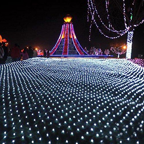 LED Lichternetz,Vorhang Lichter Netz Beleuchtung Deko Weihnachten Net Lights Halloween,Hochzeit,Party Oder Stimmung Lichter,White320lights