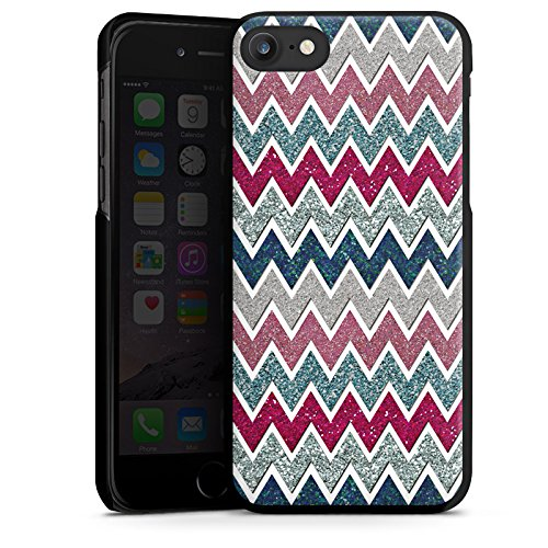 Apple iPhone X Silikon Hülle Case Schutzhülle Zickzack Muster Fein Hard Case schwarz