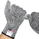 yenvine Schnittfest Handschuhe, DIGITAL HIGH PERFORMANCE Level 5Schutz, Lebensmittelqualität Küche Handschuh für Hand Sicherheit beim Schneiden, Kochen, Yard Arbeit, Large