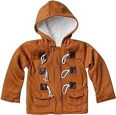 Highdas Kinder Duffle Mantel Winter Warm Fleece Baumwolle Kapuzen Horn Button Snowsuit 80-130