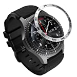 MoKo Bezel Ring Compatible with Samsung Gear S3/Galaxy Watch 46mm, Smart Watch Bezel Adhesive Cover Anti Scratch...