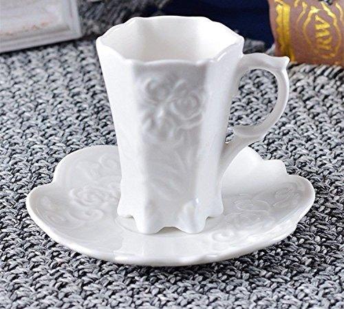 HONGYUANZHANG Kaffee Tasse Keramik Office Cup Hochzeit Geschenk Schale Und Geprägte Tasse (100 Ml).