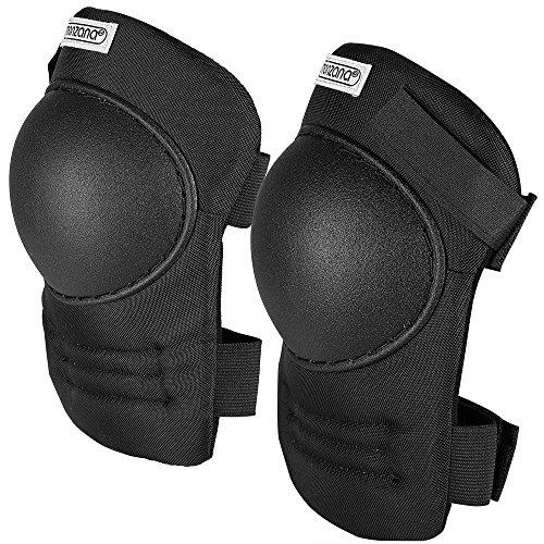 Deuba Knieschoner | Unigröße | stufenlos verstellbare Stoffriemen | PVC-Schale | Knieschützer Knieschutz Kniepolster