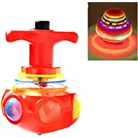 ADI Trading LED Lattoo,Spinning Top with LED Light , Music and Laser Toy (Multicolour and Design)