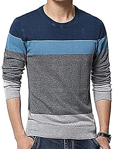 Men24 - Sweat-shirt - Manches Longues - Homme - bleu - Medium