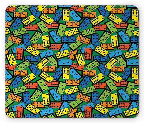 Kasino-Mausunterlage, bunter Domino-Muster-unterhaltsamer Erfolgs-Sieger-Spieler-kreativer Entwurfs-Druck, Standardgrößen-Rechteck-rutschfestes Gummi-Mousepad (Domino-muster)
