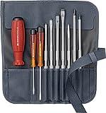 PB Swiss Tools Phillips (PH) KREUZ und SCHLITZ Schraubendreher Set 10-tlg. Inkl. Rolltasche, 100% Swiss Made, Lebenslange Garantie, Grau