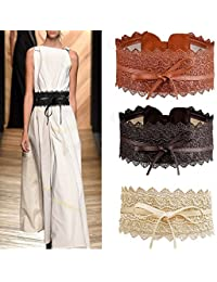 Cinturones para vestidos largos estampados