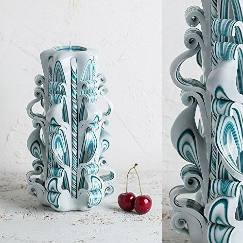 big-white-and-turquoise-havdalah-candle-gentle-colors-decorative-carved-candles-evecandles