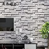 Maivasyy Simulation 3D Brick Wall Sticker Salon Chambre à Coucher canapé Tv Creative Wallpaper Background