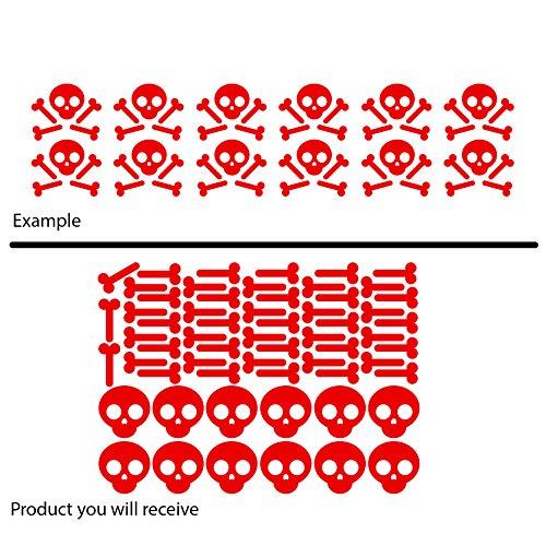 Scary Fancy Set der Piraten Knochen Skulls Halloween (43cm x 60cm) wählen Sie Farbe 18Farben auf Lager Badezimmer, Childs Schlafzimmer, Kinder Zimmer Aufkleber, Auto Vinyl-, Windows und Wandtattoo, Wall Windows Art, Decals, Ornament Vinyl Sticker ThatVinylPlace Rot (Halloween-badezimmer Sets)