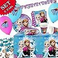 Frozen de Juego, 45piezas) Decoración de cumpleaños para niños Cumpleaños Niña y Frozen temática de fiesta para 8Kids por geburtstagsfee