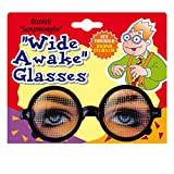Brille mit Augen Dauerwach Spaßbrille Funbrille Scherzartikel Workaholic Scherzbrille Gag Partybrille Party Faschingsbrille