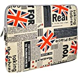 13 inch Union Jack Flag Notebook Laptop Sleeve Bag Carrying Pouch Case for most of Apple macbook, Acer, ASUS, Dell, HP, Sony