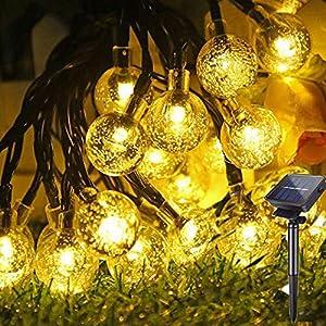 Guirnaldas Luces Exterior Solar, Hatonky