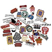 A Sticker Shop 34pcs Friends tv Show Creative DIY Stickers Funny Decorative Cartoon for Cartoon PC Luggage Computer Notebook Phone Home Wall Garden Window Snowboard