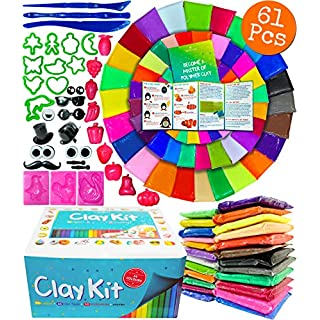 Modelling Clay 24 Colours Polymer Clay Arts And Crafts For Kids Fimo Clay Polymer Clay Set Fimo Polymer Clay Craft Set Air Drying Clay for Children Moulding Clay