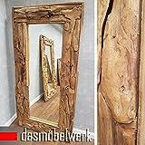 dasmöbelwerk XXL Wandspiegel Spiegel Massiv Wurzel Teak Holz Rahmen Hängespiegel 160 cm,180 cm oder 200 cm (90 x H180 x T9 cm)