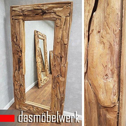 dasmöbelwerk XXL Wandspiegel Spiegel Massiv Wurzel Teak Holz Rahmen Hängespiegel 160, 180 cm oder 200 cm (2214 1,60m)