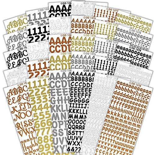 CPD Bumper Bumper Value Abziehen Abziehen Aufkleber Buchstaben und Zahlen, Papier, Sortiert, 23x 11x 10cm -