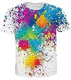 Idgretim Frauen Männer Jugendliche 3D Gedruckt Kurzarm T-Shirts Casual Bunte Top Tees