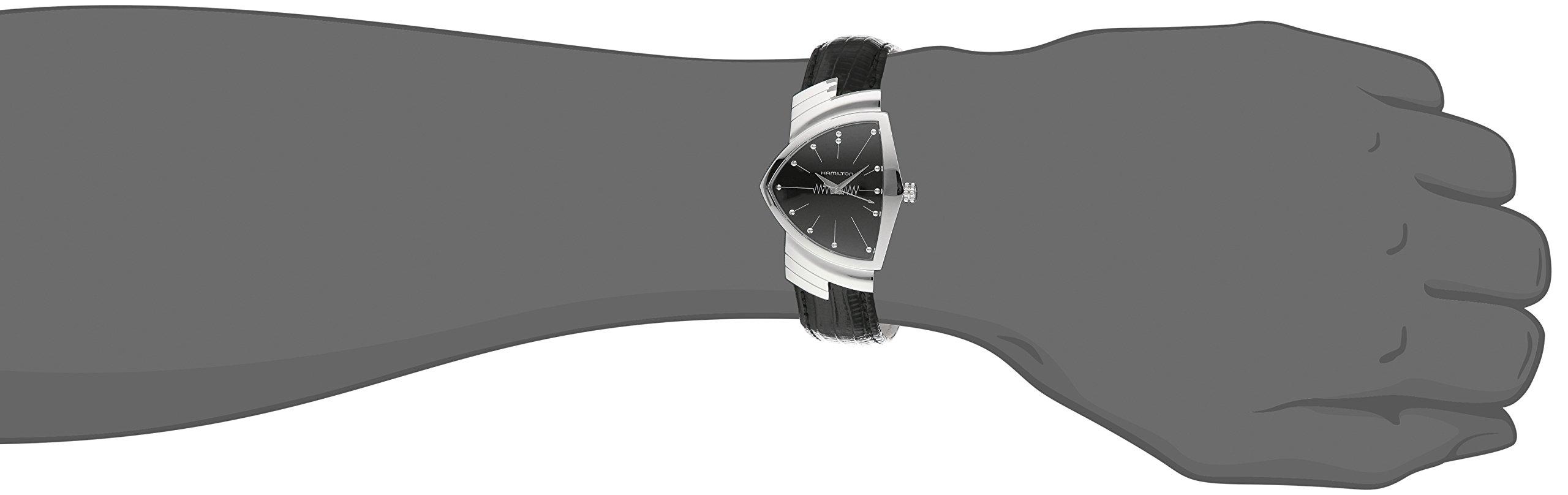 Hamilton H24411732 Ventura Reloj de Acero Inoxidable con Correa de Cuero