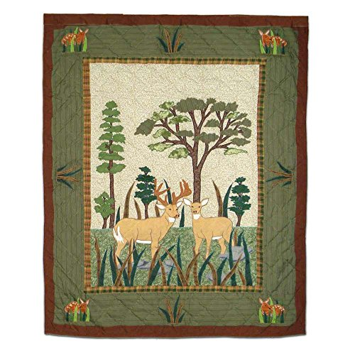 Patch Magic Whitetails Grove Steppdecke, 91,4 x 116,8 cm - Patch-magic Patch