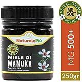 Manuka-Honig 500+ MGO (UMF 15+) 250g   Hergestellt in Neuseeland, Aktiver und unbehandelter, rein und natürlich   Methylglyoxal geprüft   NATURALEPIÙ