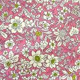 0,5m Wachstuch Streublumen rosa-grün 1,1m breit Meterware