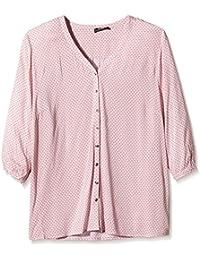 Frapp Damen Bluse 3/4 Arm Bluse mit V-ausschnitt Bedruckt