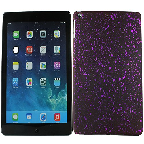 Heartly Night Sky Glitter Star 3D Printed Design Retro Color Armor Hard Bumper Back Case Cover For Apple iPad Air Tablet (iPad 5) - Maroon Purple  available at amazon for Rs.109