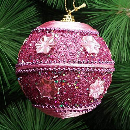 Pottoa Weihnachtsrhinestone-Glitter-Flitter-BäLle-Weihnachtsbaum-Verzierungs-Dekoration Weihnachten Diy Home Decor 2019,8Cm (Snow Globes Diy)