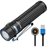 Olight S2R II Rechargeable LED Flashlight Powerful 1150 Lumens Pocket Handheld Torches for Camping Exploring Hiking Dog Walki