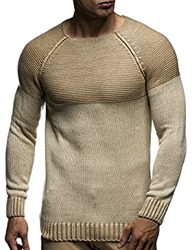 LEIF NELSON Herren Strickpullover Pullover Sweatshirt LN20706
