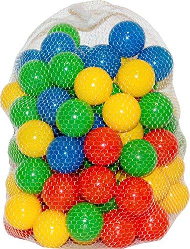 100 bunte Bälle für Bällebad, Spielbälle, Kunststoffball, Ball für Spielzelt