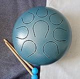 Cvnc perfetta qualità mini lingua acciaio percussioni tamburo 25,4cm colore blu scuro strutturato